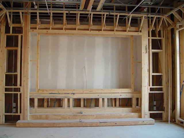 Home theater construction of front area