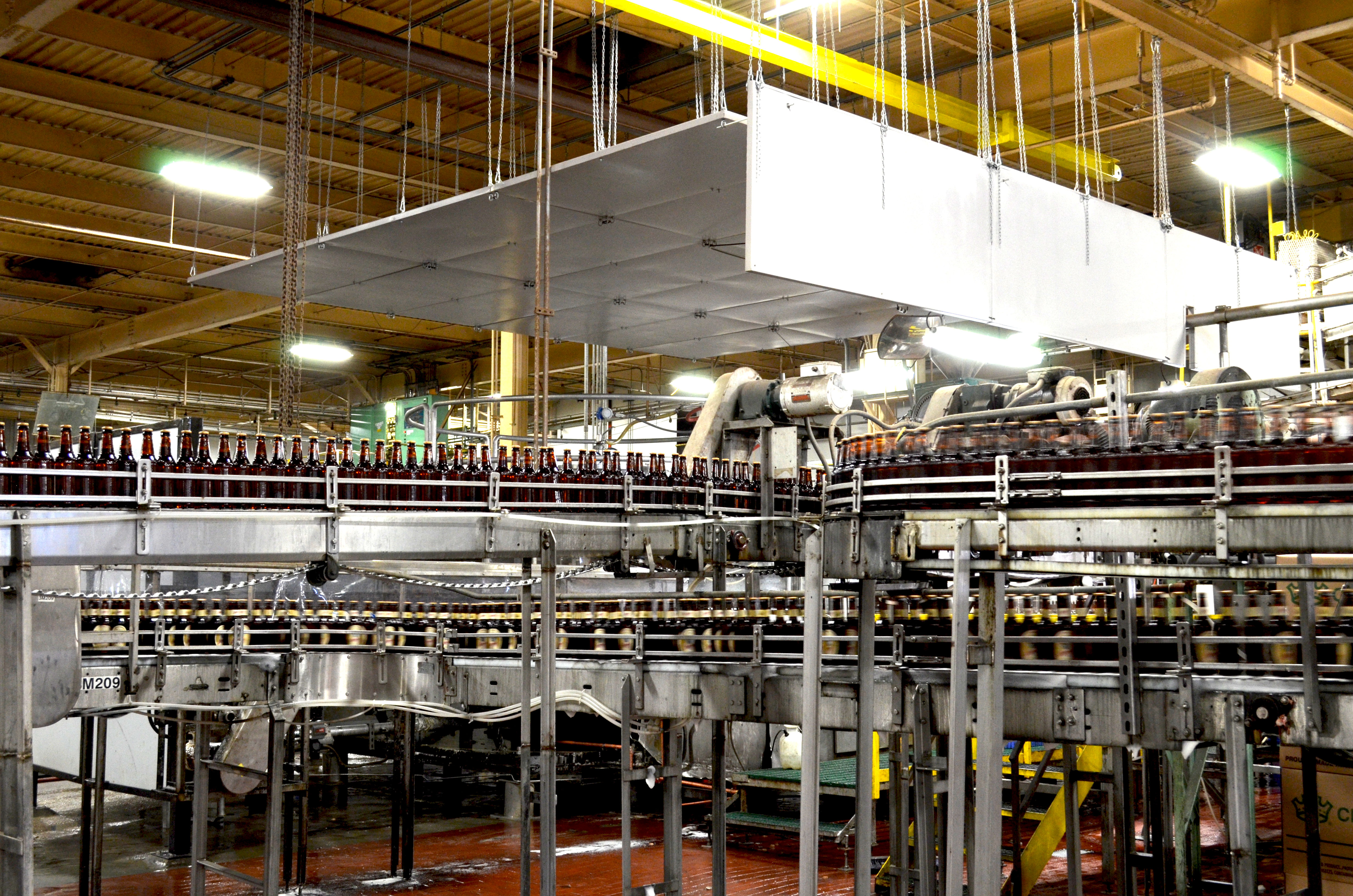 quiet cloud absorbs noise industrial bottling facility 3