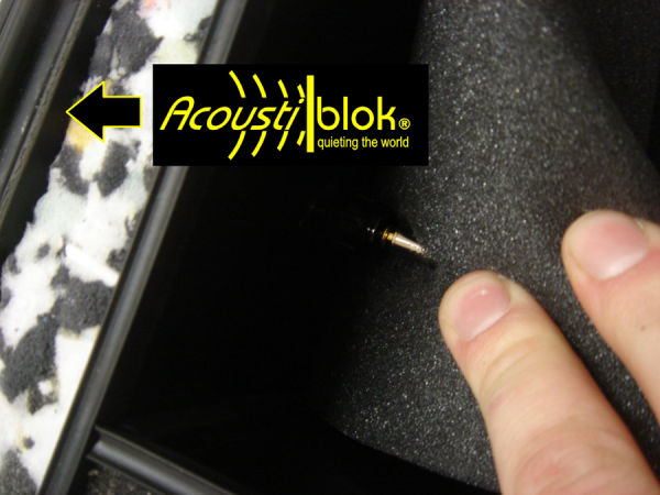 acoustiblok soundproofing material shown inside the OtoCube desktop audio booth