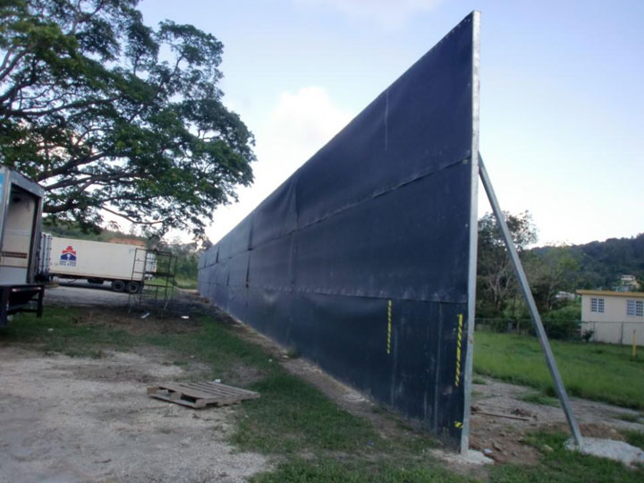 acoustifence noise barrier 18 foot wall pilgrims pride distribution pr 2012 1