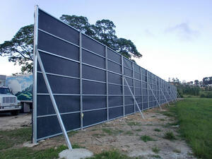 acoustifence noise barrier 18 foot wall pilgrims pride distribution pr 2012 2