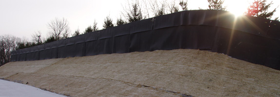 noise barrier made from acoustifence