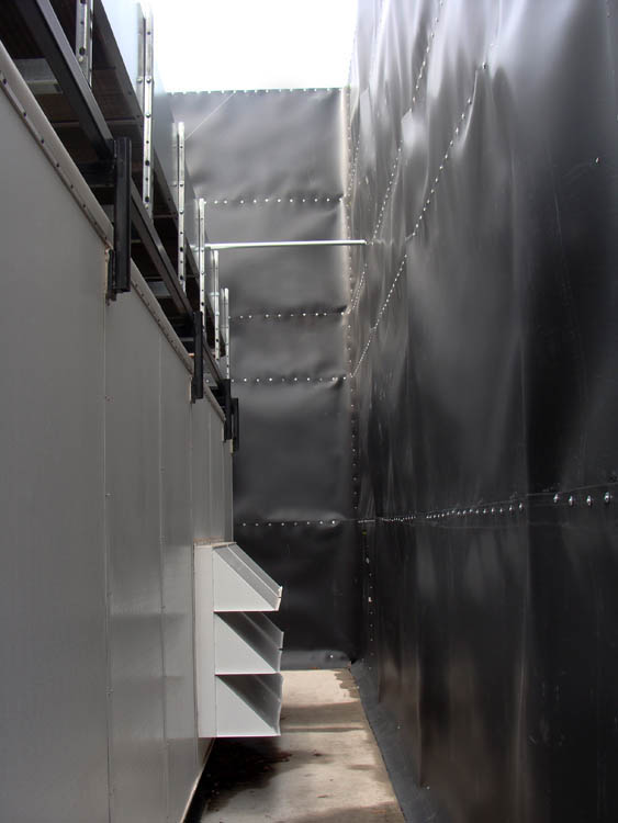 industrial chiller noise quieted with Acoustifence noise barrier material