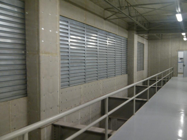 Generator room at Galleria 360 in Santo Domingo is quieted with QuietFiber sound absorption material