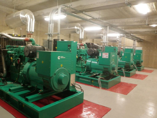 industrial generator quieted with QuietFiber sound absorption material