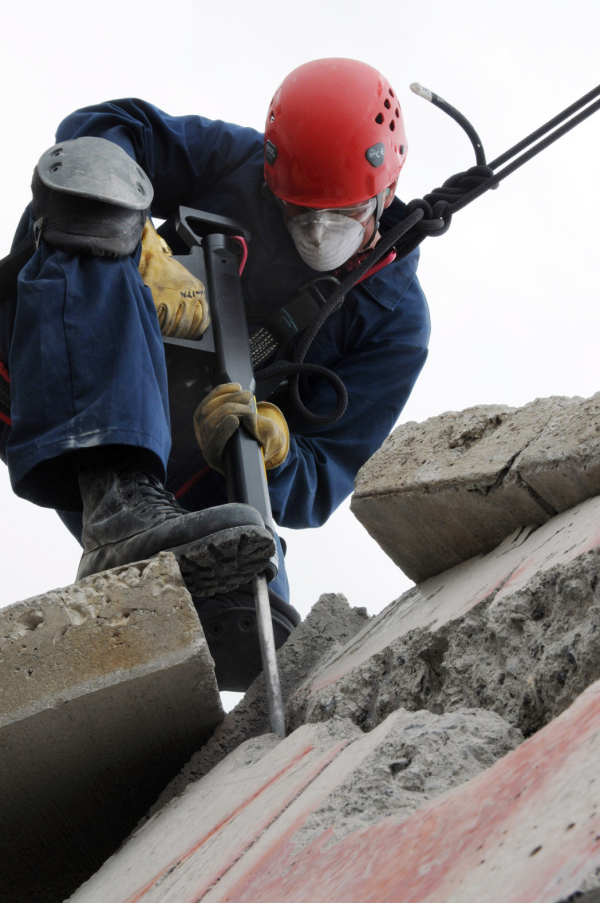 Using a jackhammer causes noise pollution