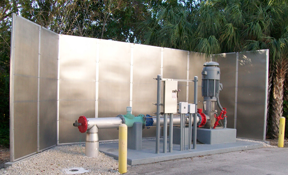 All Weather Sound Panels quiet water treatment plant