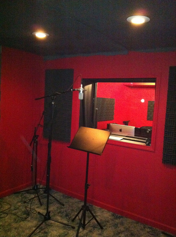 recording studio with acoustiblok soundproofing material